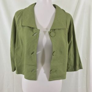 Vintage 50s 60s cropped green jacket